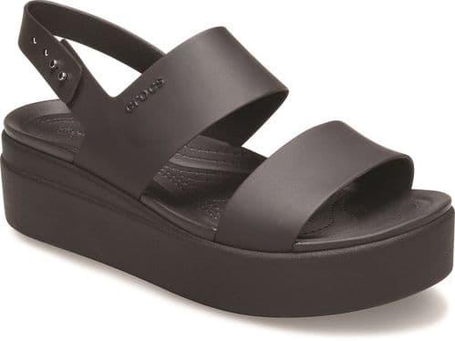 Crocs Brooklyn Low Wedge Sandal Ladies Summer Black